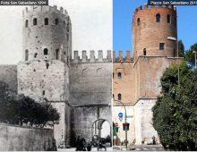 Porta San Sebastiano (ieri e oggi)