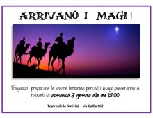 """Via Gallia: """"Arrivano i Magi"""""""
