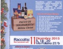 Via Foligno, raccolta natalizia di Militia Christi