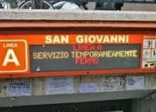 Interrotta Metro A dalla stazione San Giovanni