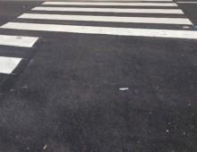 Via Terni: strisce pedonali condizionate dal parcheggio