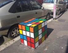 Quegli strani, colorati cubi dell' Alberone