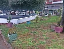 Volontari sistemano il parcheggio di Colli Albani