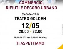 Teatro Golden, incontro su commercio, rifiuti e decoro urbano