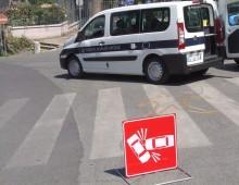 Cinecittà: maxi incidente, coinvolta auto Ps