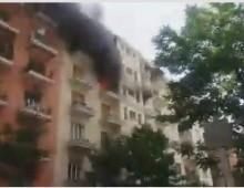 Via Rocca Priora: appartamento in fiamme, evacuato palazzo – il video