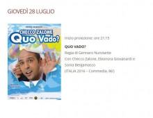 Arena Villa Lazzaroni: programma oggi giovedi 28 luglio