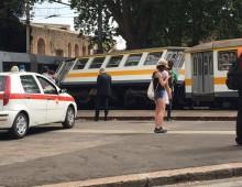Porta Maggiore: incidente tram-trenino