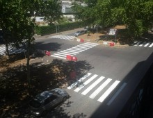 Via Nocera Umbra: riverniciate le strisce pedonali