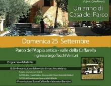 Caffarella: festeggiamo insieme un anno della Casa del Parco