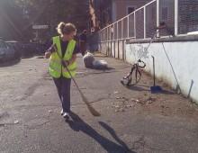Via Siria: pulizie straordinarie da parte dei volontari