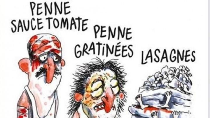 Charlie Hebdo, vignetta su sisma Italia