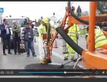 [Video] – Via Appia Nuova: in azione per la prima volta la macchina tappa buche