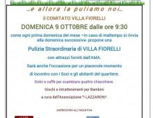 Domenica 9 ottobre pulizia straordinaria di Villa Fiorelli