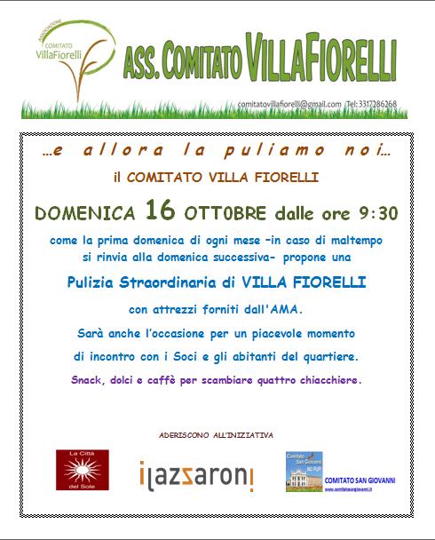 pulizia villa Fiorelli