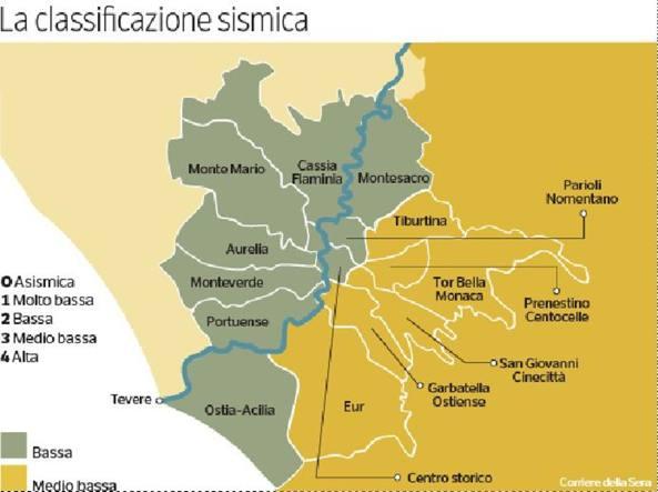 Cartina Roma Est.Terremoto Trema Di Piu Roma Est La Mappa Del Rischio Nei Quartieri