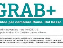 GRAB+: 20 idee per cambiare Roma. Dal basso