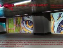 Sabato 7 gennaio retake e murale all' interno della metro San Giovanni