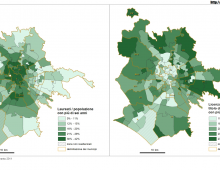[#mappaRoma]: ai Parioli 8 volte i laureati di Tor Cervara