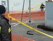 Via Carlo Denina: maxi voragine e chiusura al traffico