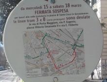 Roma, lavori sulla linea del tram 3, cambio percorso