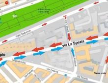 Via La Spezia: ecco come cambia la viabilità