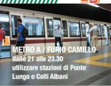 Metro Furio Camillo:  dal 23 maggio al 13 luglio chiude alle 21 per lavori
