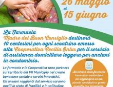 Farmacia Madre del Buonconsiglio: Ogni scontrino, 10 cent per gli anziani