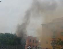 Via Mondovì: scoppia incendio sulla ferrovia