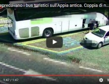 [Video] – Appia Antica: coppia di nomadi depredavano bus turistici