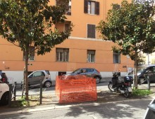 Via Foligno, ancora una buca