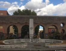 Imbrattato il monumento di piazza Lodi