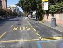 Via Gallia: la prima fermata bus con pedana anti sosta selvaggia