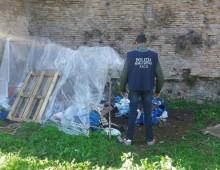 Mure Aureliane: rimozione e smantellamento baracche