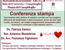 """Delibera su """"Roma capitale europea cardioprotetta"""""""