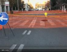 Via Alghero:  aperta una voragine, strada chiusa