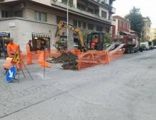 Via Baccarini: partiti i lavori per chiusura voragine