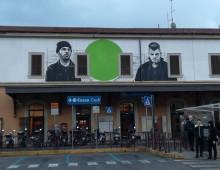 Stazione Tuscolana: il nuovo inquietante murale