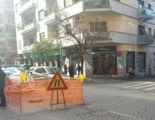 Via Baccarini: si apre una nuova buca, traffico e caos