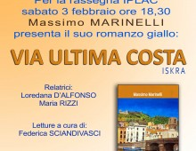 "Libri: presentazione di ""Via Ultima Costa"" di Marinelli"