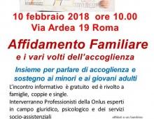 Via Ardea: incontro sull'Affidamento familiare