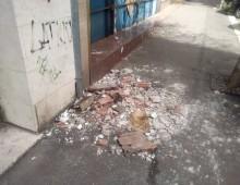 Ex cinema Airone: distacchi e crollo calcinacci
