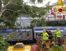 Via Solunto: cade albero sulla linea ferroviaria