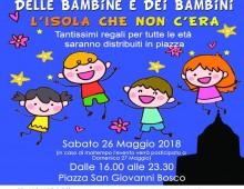 Piazza don Bosco: notte bianca delle bambine e dei bambini