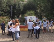 Piazza Re di Roma, sabato con Lega