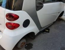 Piazza Epiro: ruba le ruote di una Smart, arrestato