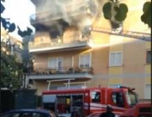 Via Nocera Umbra: appartamento in fiamme, tre intossicati
