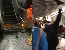 [Video] Metro A: cede scala mobile, 24 i feriti