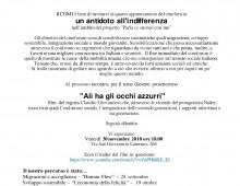 """Comi (San Giovanni): proiezione """"Alì ha gli occhi azzurri"""""""