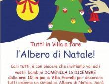 Villa Fiorelli: tutti insieme per fare l'Albero di Natale